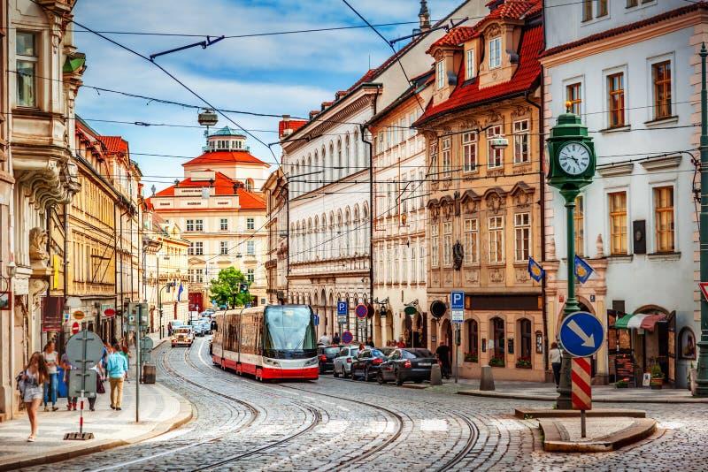 Alte Prag-Straße stockbilder