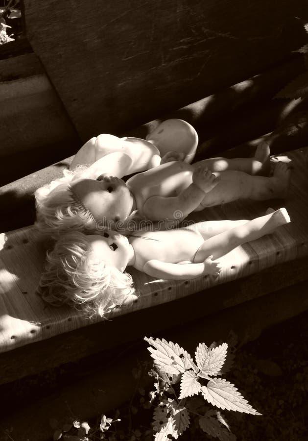 Alte Puppen stockfoto