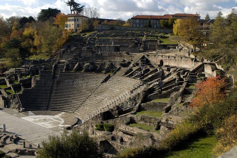 Alte römische Arena stockbild