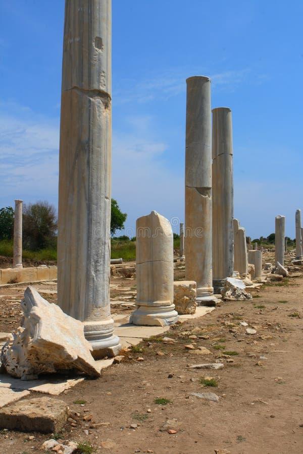 Alte römische Cardo Straße in der Seite, stockfotografie
