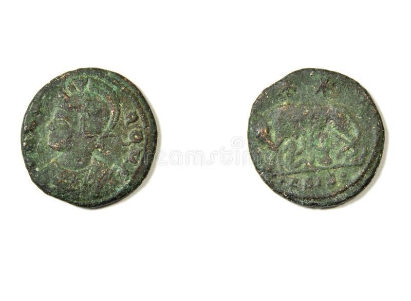 Alte römische Münze lizenzfreies stockfoto