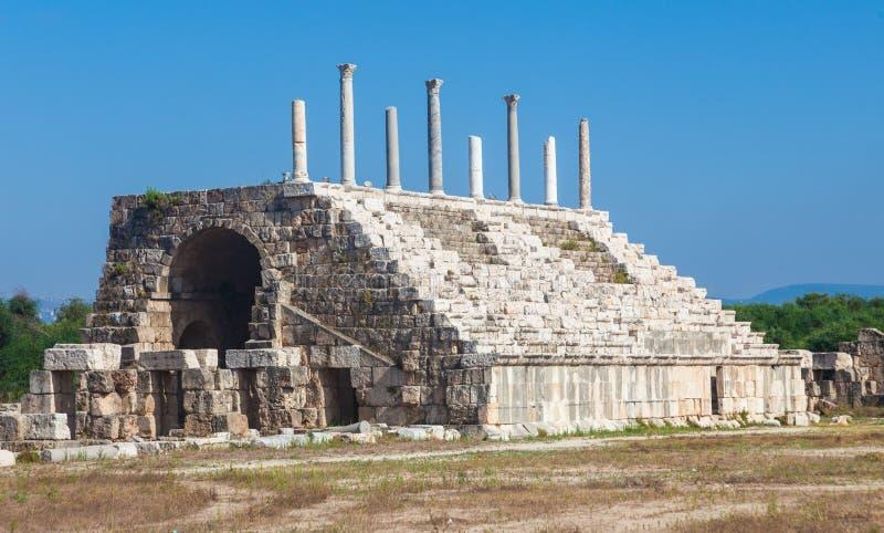 Alte römische Ruinen des Hippodroms im Libanon stockbild