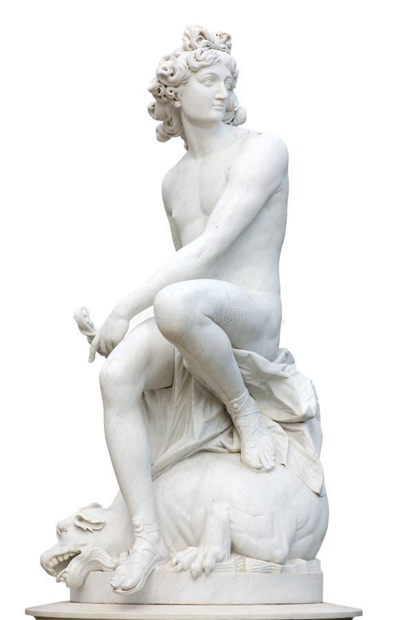 Alte römische Statue lizenzfreie stockbilder
