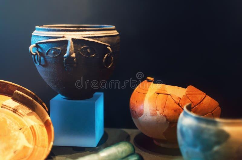 Alte römische Tonwaren stockbild