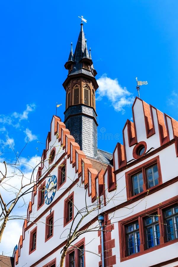 Alte Rathaus in Weinheim, am Markt, Deutschland lizenzfreie stockfotos