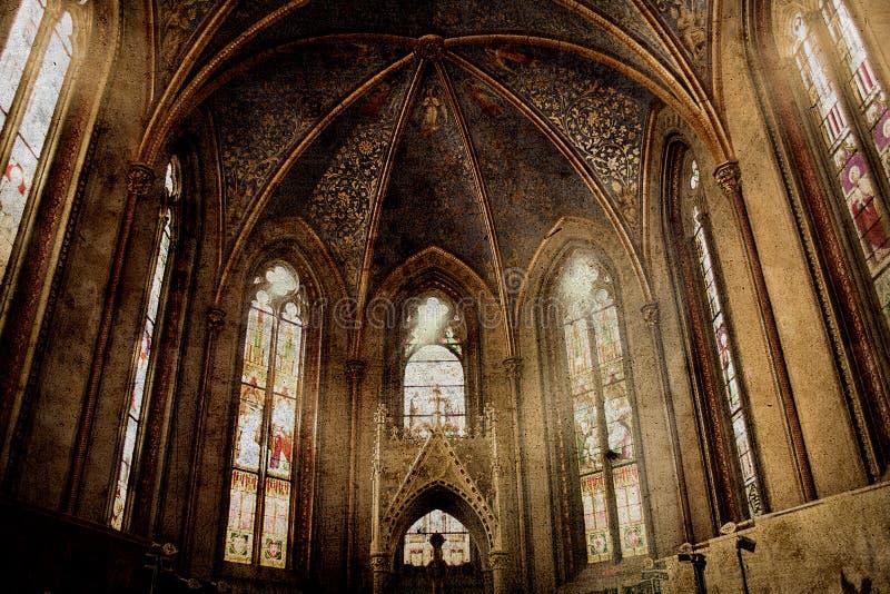 Alte Retro- Kirche stockfoto