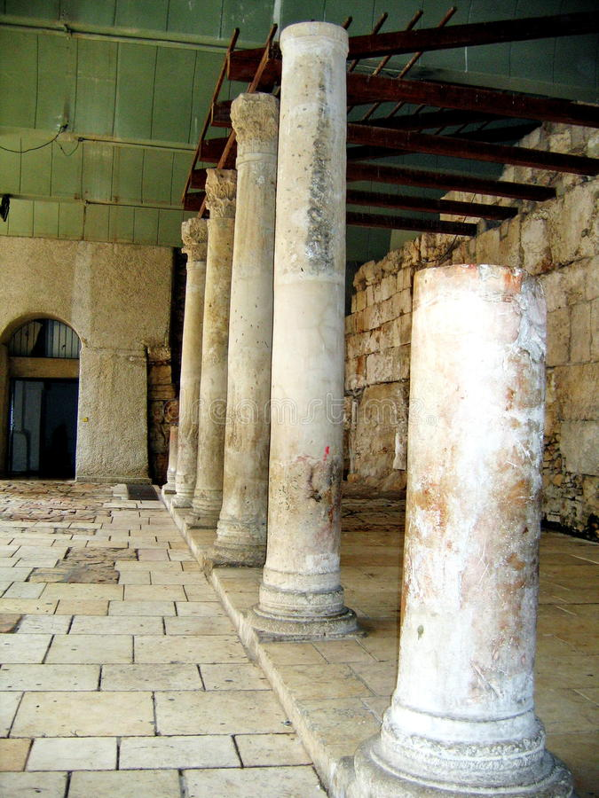Alte Roman Cardo-Straße.  Jerusalem lizenzfreie stockbilder