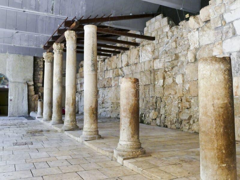 Alte Roman Cardo-Straße Jerusalem dieses ist ein Teil des cardo, stockfotografie
