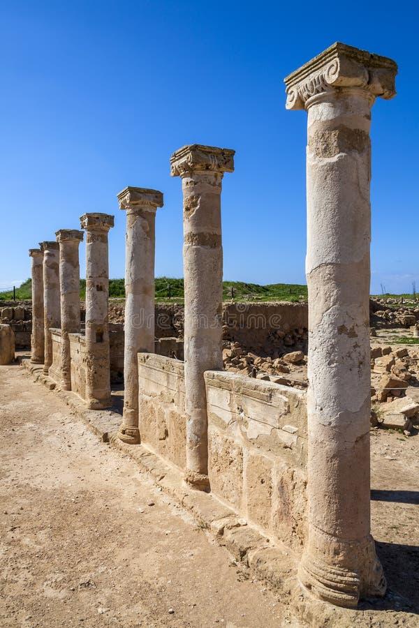 Alte Roman Columns-Gebäuderuine lizenzfreies stockfoto