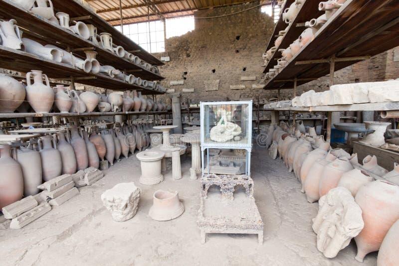 Download Alte Roman Pompei-Ruinen foto de archivo. Imagen de erupción - 64205132