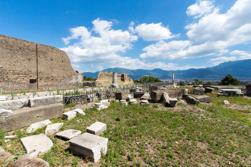 Download Alte Roman Pompei-Ruinen imagen de archivo. Imagen de famoso - 64206259