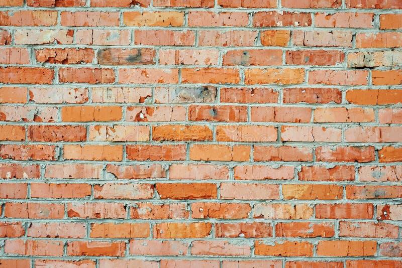 Alte rote Backsteinmauer stockbilder