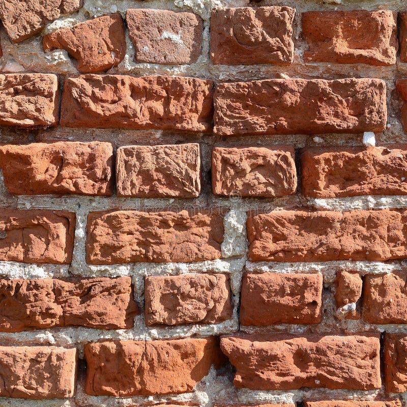 Alte rote Backsteinmauerbeschaffenheit stockfotografie
