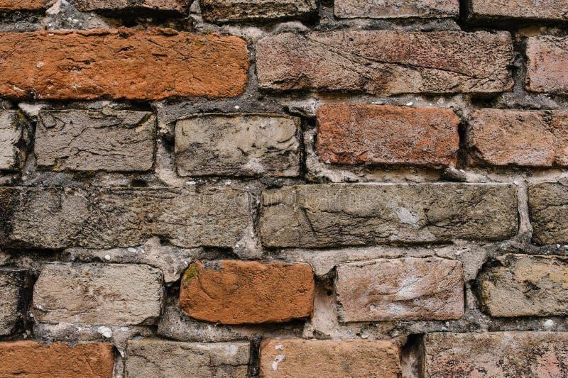 Alte rote, braune Backsteinmauer, Beschaffenheit, Hintergrund stockfotos