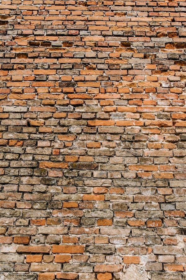 Alte rote, braune Backsteinmauer, Beschaffenheit, Hintergrund lizenzfreie stockfotografie