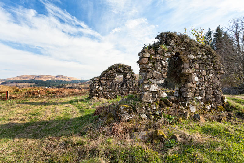Alte Ruinen auf der Insel von Mull stockbilder