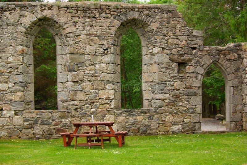 Alte Ruinen der Kirche in Schottland lizenzfreie stockbilder