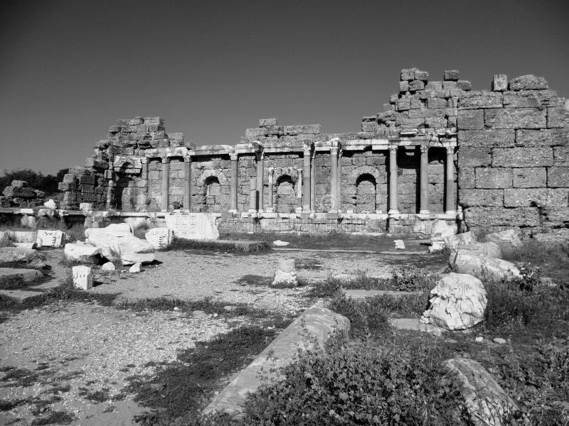 Alte Ruinen des Agoras stockfoto
