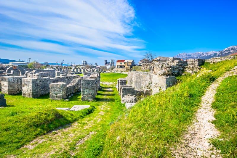 Alte Ruinen Salona in Dalmatien-Region, Kroatien stockbilder
