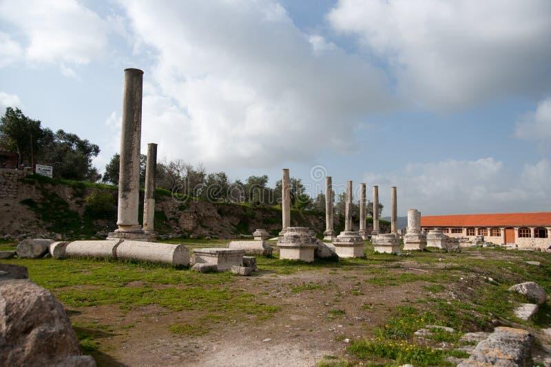 Alte Ruinen Sebastia-Archäologie lizenzfreies stockfoto