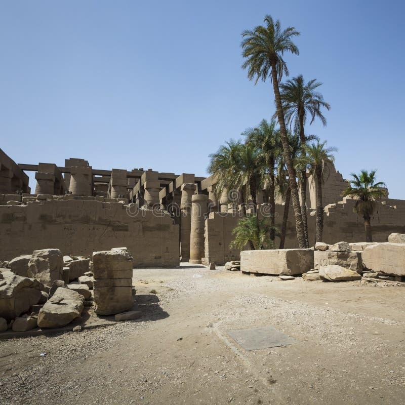 Alte Ruinen von Karnak-Tempel in Luxor Egypt stockfoto