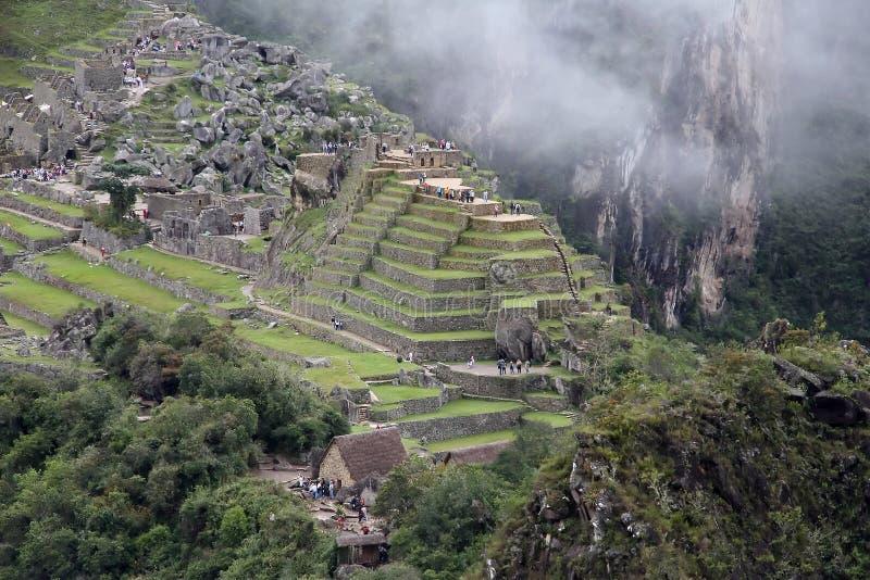 Alte Ruinen von Machu Picchu, Peru lizenzfreie stockbilder