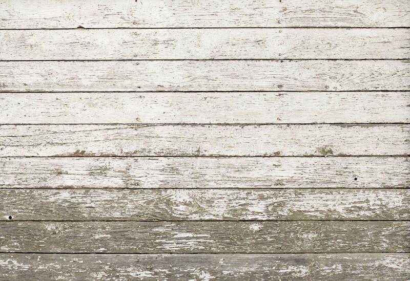 Alte rustikale weiße Plankestallwand lizenzfreies stockfoto
