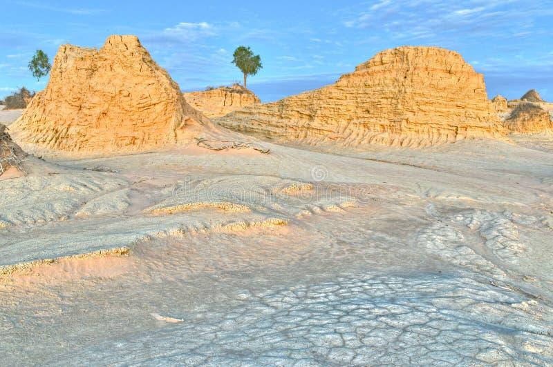 Alte Sanddünen und Abnutzungmuster in Mungo N stockfotos