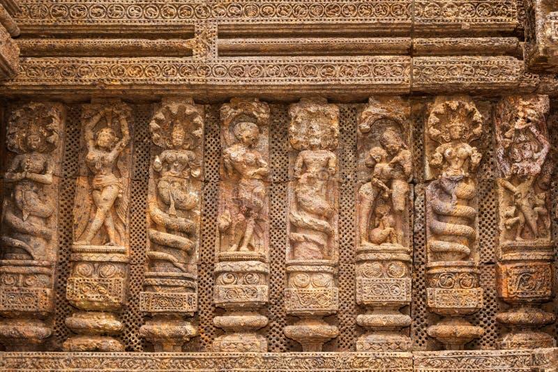 Alte Sandstein Carvings lizenzfreie stockbilder