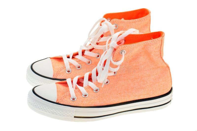 Alte scarpe di tela del taglio fotografia stock