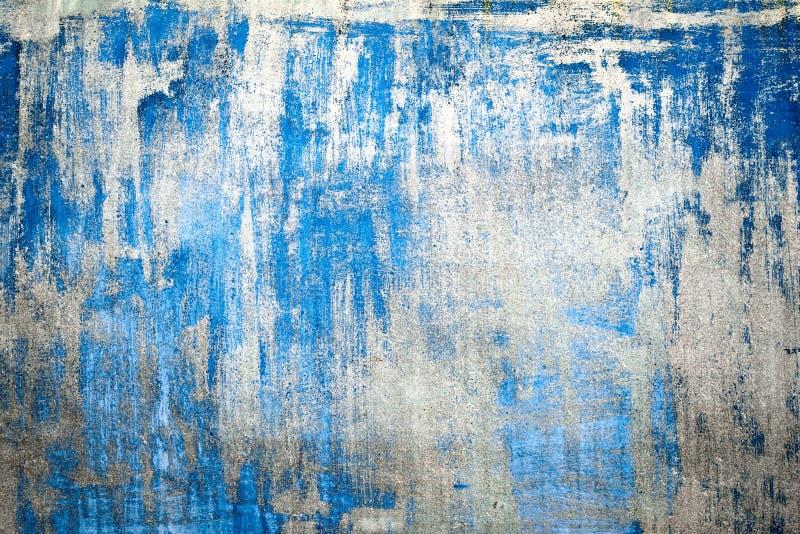 Download Alte Schädigende Gebrochene Farben Wand, Schmutz Hintergrund,  Blaue Farbe Stockfoto