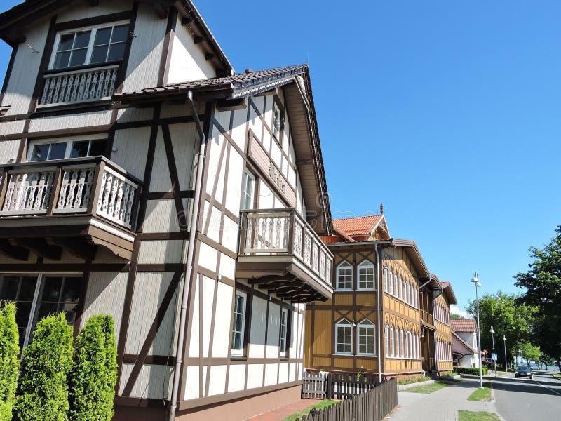 Alte schöne Häuser, Litauen stockfoto