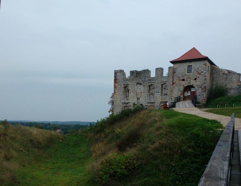 Alte Schloss-Ansicht stockbilder