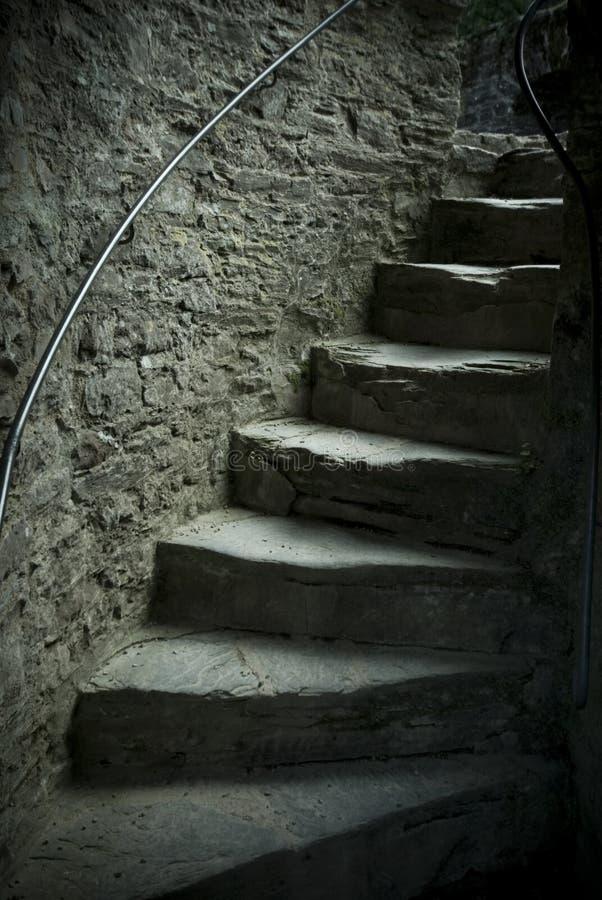 Alte Schlossjobsteps lizenzfreie stockfotos