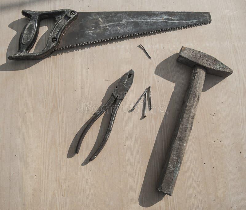 Alte Schmierewerkzeuge stockbild