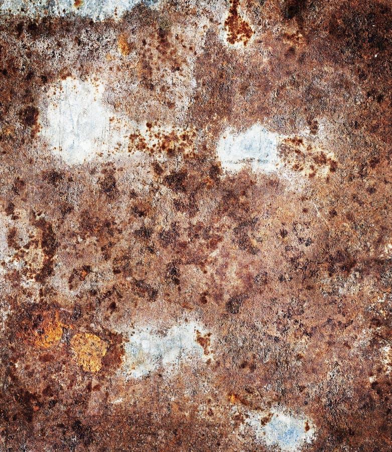 Alte, schmutzige, rostige Metallplatte stockfotos