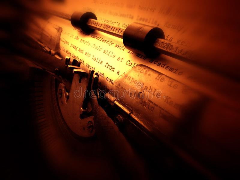 Alte Schreibmaschine stockbild