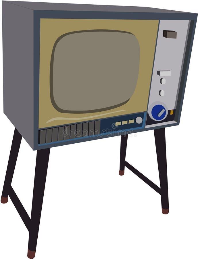 Alte Schulfernsehmodelle voll von den Gedächtnissen stock abbildung