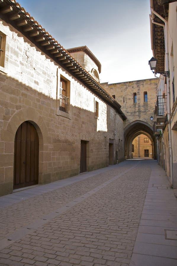 Alte spanische Straße lizenzfreie stockfotografie