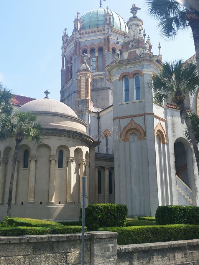 Alte St- Augustinekirche stockbild