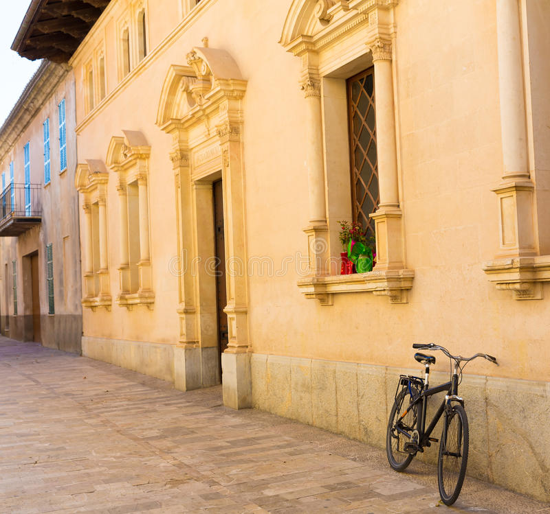 Alte Stadt Alcudia in Majorca Mallorca balearisch stockbild