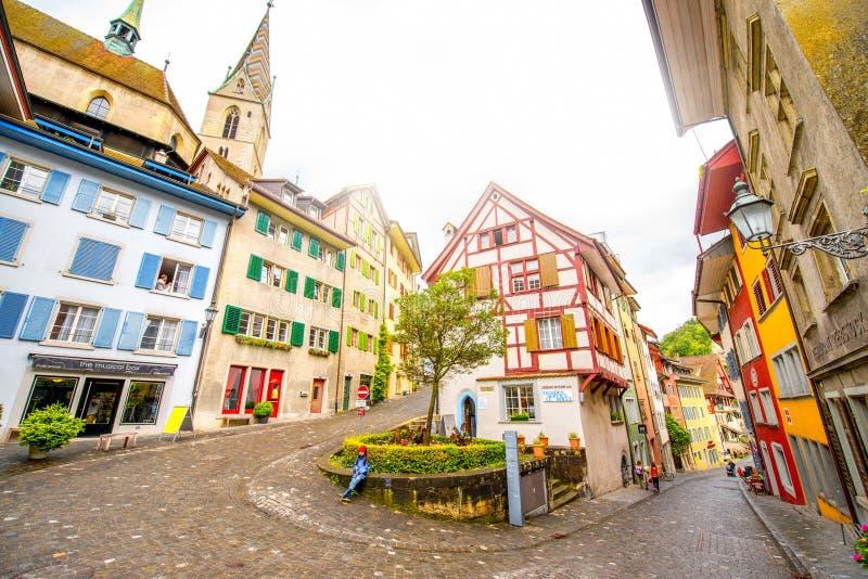 Alte Stadt Baden in der Schweiz lizenzfreies stockbild