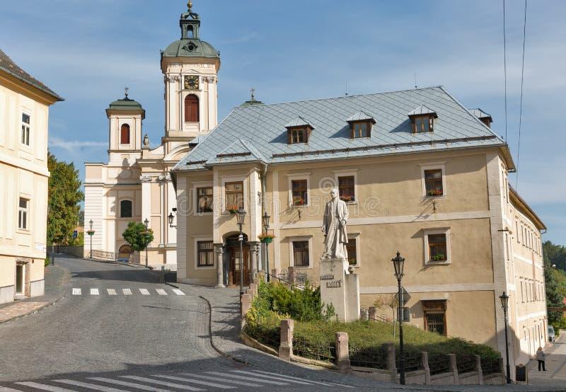 Alte Stadt in Banska Stiavnica, Slowakei stockfotografie
