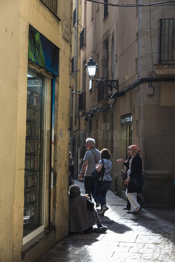 Alte Stadt, Barcelona stockbild