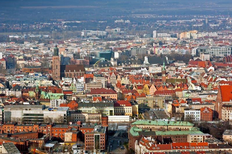 Alte Stadt Breslaus lizenzfreies stockbild