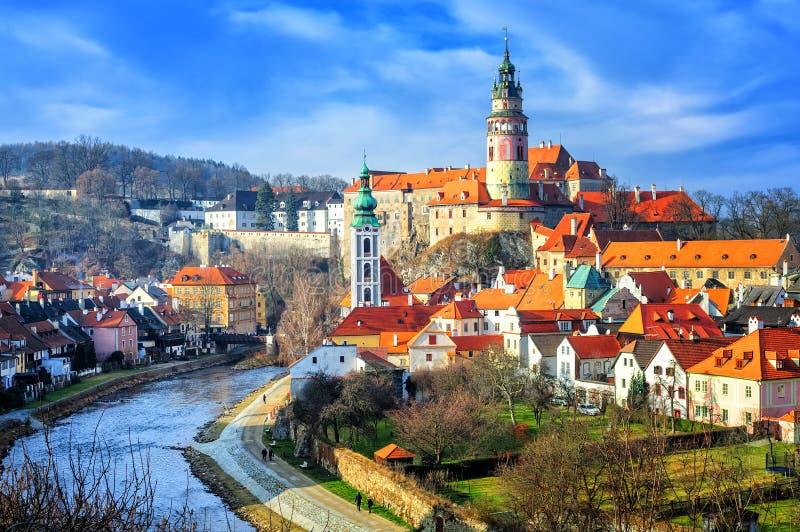 Alte Stadt Cesky Crumlov, Tschechische Republik lizenzfreie stockfotos