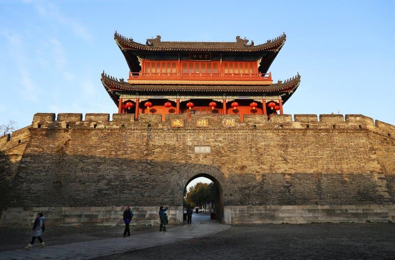 Alte Stadt Chinas, Jingzhou stockfoto