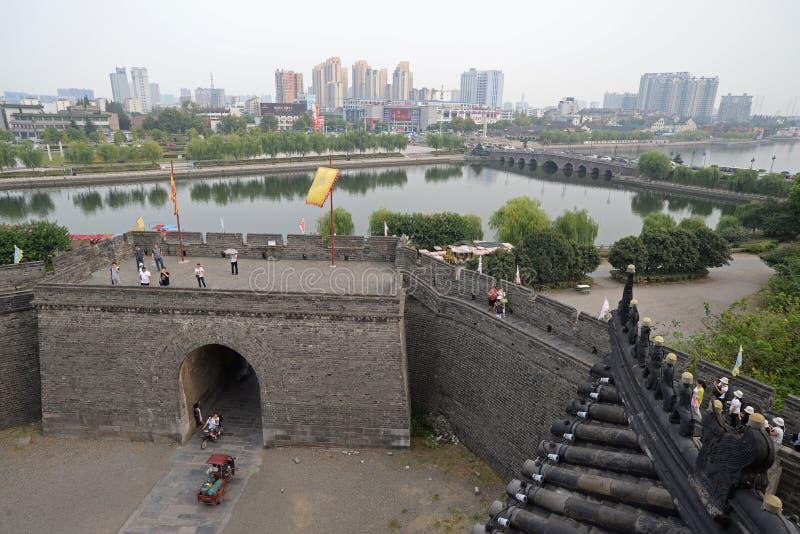 Alte Stadt Chinas, Jingzhou Historisch, Monument lizenzfreie stockfotos