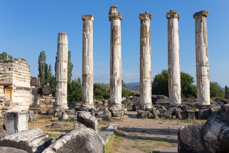 Alte Stadt der Aphrodisias Aphrodisias-Museum, Ayd? n, ägäische Region, die Türkei - 9. Juli 2016 lizenzfreies stockbild