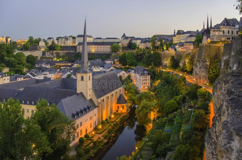 Alte Stadt der Stadt von Luxemburg lizenzfreie stockfotografie